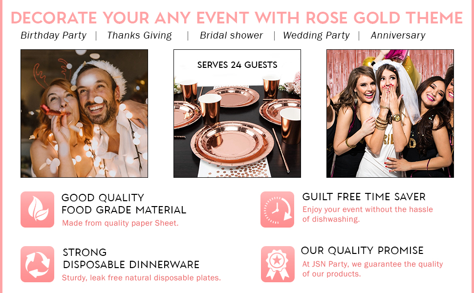 Decorate Your Any Event With Rose Gold Party Package
