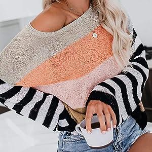 women rainbow sweater 2