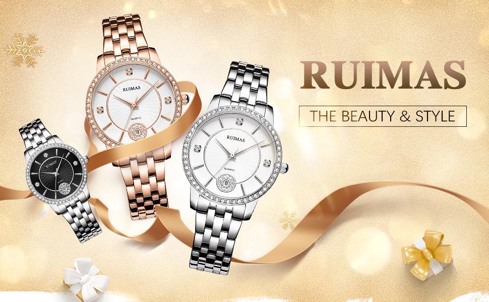 Women's Silver Wrist Watches Analog Quartz Watch for Women Movement Bracelet Stainless Steel