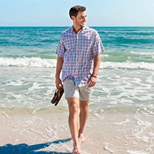 khaki plaid shirts for men check dress shirts for men regular fit