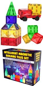 Magnetic building tiles