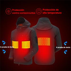 chaqueta calefactable usb