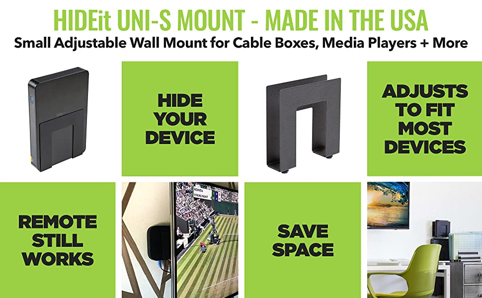 Amazon Com Hideit Uni S Black Mount Adjustable Small