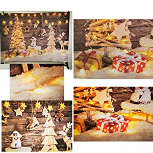 Gingerbread Man 10x6.5 FT Vinyl Photo Backdrops,Delicious Homemade Cookies Dried Fruits and Bakery Tools Festive Rustic Background for Selfie Birthday Party Pictures Photo Booth Shoot