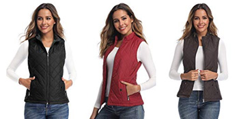 womens vests outerwear Quilted Lightweight Jackets
