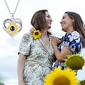 sunflower necklace for mom