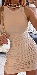 sexy sleeveless bodycon dress