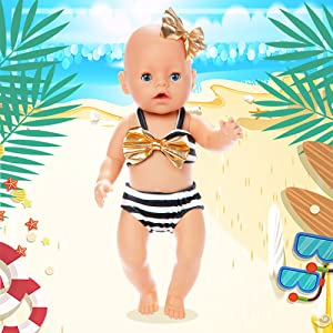 baby doll clothes 16 inch 15inch 14 inch american girl doll clothes 18 inch doll clothes swimwear