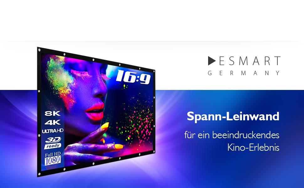 eSmart Germany Spann-Leinwand SPANMI