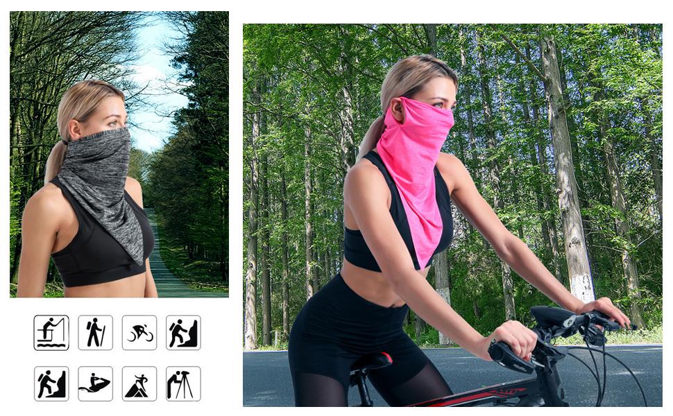 Sethexy Des sports Respirant Cache-cou Multifonctionnel Mode Visage Foulard 3 pi/èces Bandanas Pendaison Cagoules pour Faire de la moto Cyclisme Randonn/ée Chapellerie pour hommes et femmes