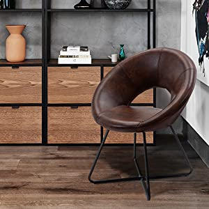 duhome accent chair leather desk chair