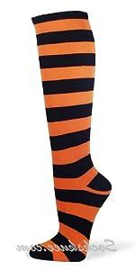 COUVER Halloween Costume Cosplay Striped Knee highs socks [Model #: KSTR01]