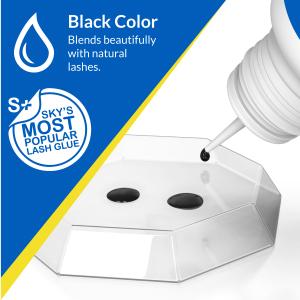 Beau Lashes Sky Glue S+ Eyelash Extension Adhesive For Professional Lash Artists - Black Color