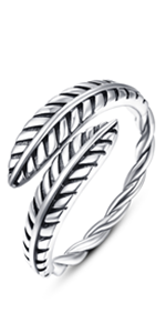 Oxidation feather ring