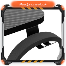 Computer Desk Mouse pad K-Shaped Writing Table Workstation Handle Rack Cup Holder Headphone Hook