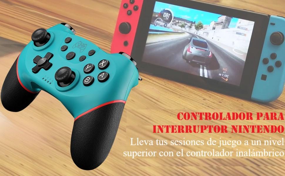Diswoe Mando para Nintendo Switch, Wireless Bluetooth Pro Controller Controlador Inalámbrico con Función Gyro Axis/Dual Shock y Turbo Mando Inalámbrico Compatible con Nintendo Switch/Lite: Amazon.es: Electrónica