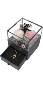 la rosa eterna rosa regalo oro scatola vuota regalo rosa eterna stabilizzata regalo per lei
