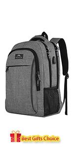 mochila para portátil de viaje gris 15.6'' 15''