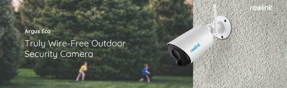Wirefree outdoor security camera argus eco