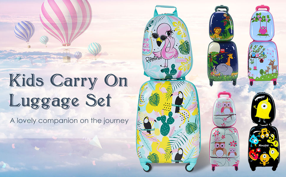 Kids Carry On Luggage Set