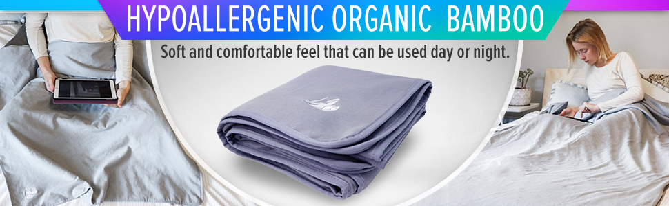 The DefenderShield EMF Blanket is made with hypoallergenic organic bamboo.