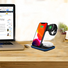Your best Friend  Any Warphone 3 in 1 Wireless Charging Stand for Latest Airpods iPhone and iWatch, Compatible for iPhone 11 Pro Max/X/XS Max/8 Apple Watch Charger 5/4/ 3/2 /1 Airpods 2/3 71b6ba41 e4f7 44cb 80fe 33d3cf58f8be