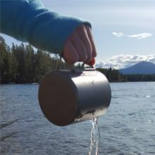 COOK'N'ESCAPE Lightweight 750ml Titanium Mug with Lid