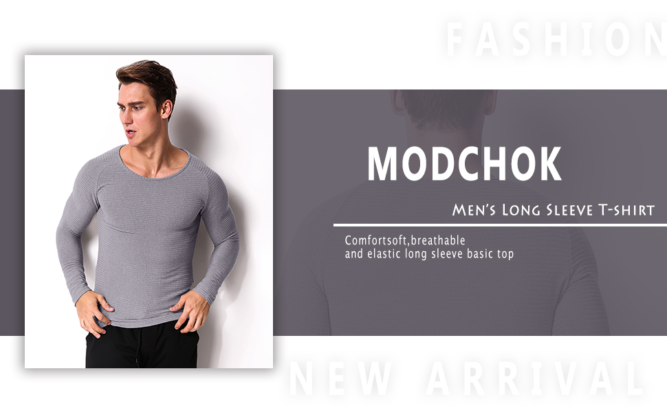 Men/'s Slim Fit Plain Muscle Long Sleeve Tee Basic T-shirt Casual Tops Crew Neck