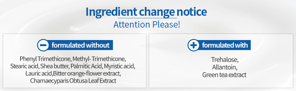 ngredient change notice