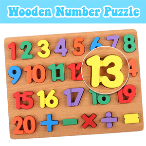WOODEN NUMBER PUZZLE BOARD