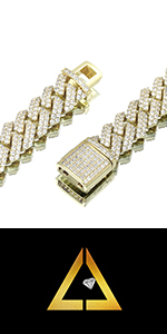 iced out cuban chain for men