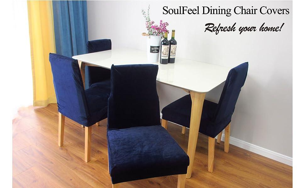 SoulFeel Spandex Velvet Chair Covers