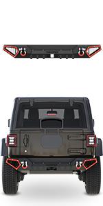 JL rear bumper full width