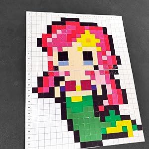 La Manufacture Du Pixel 3 200 Gommettes Stickers Carrées Autocollantes 1cm X 1cm Pixel Art Loisir Créatif Mosaïque Fun Créez à Linfini
