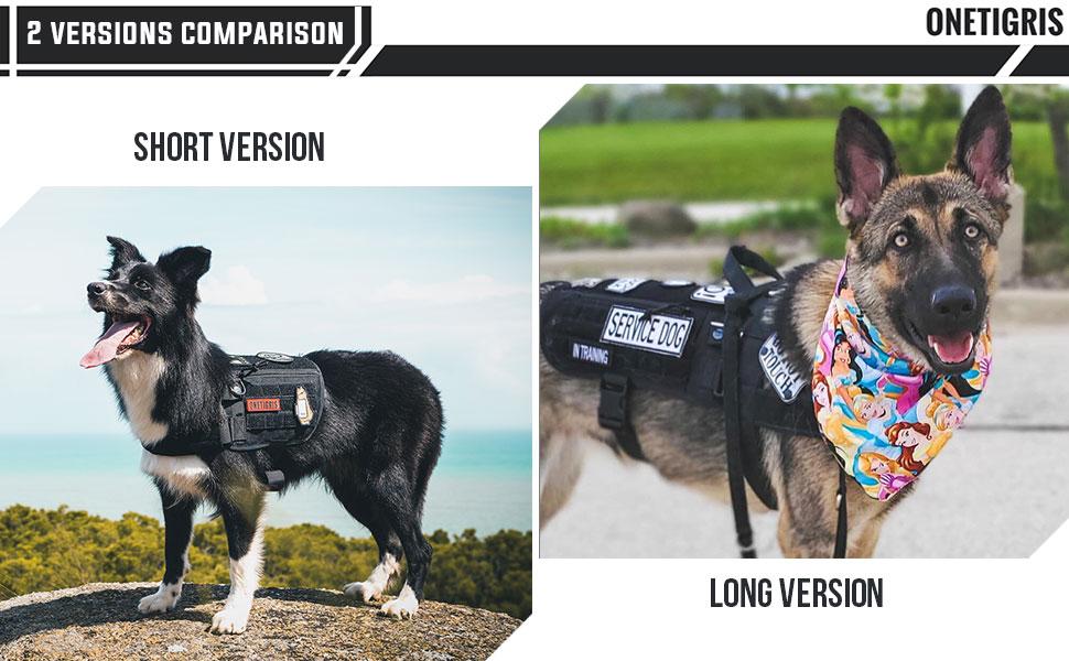 long and short dog harness pet vest large patch panel molle cape