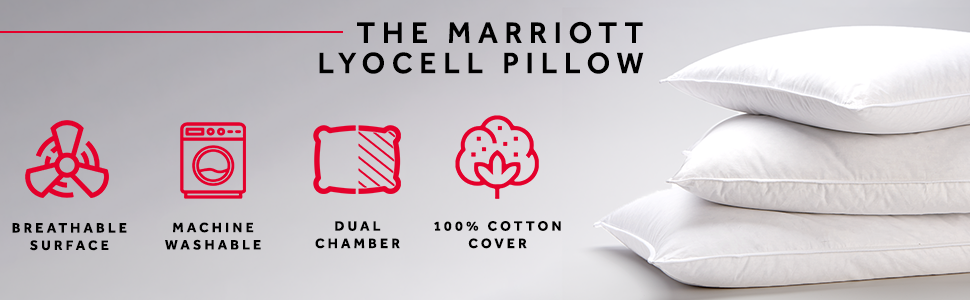 The Marriott Lyocell Pillow Breathable Cotton Dual Chamber Machine Washable