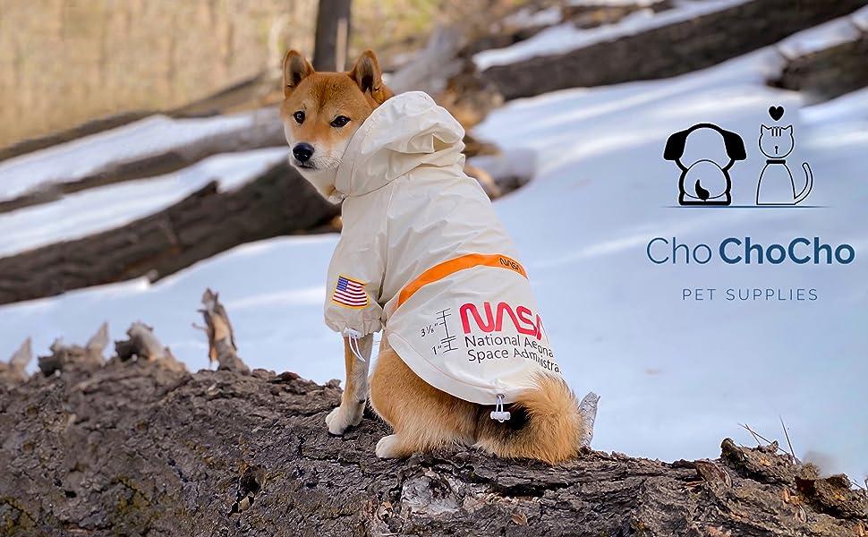 dog raincoat chochocho nasa us flag