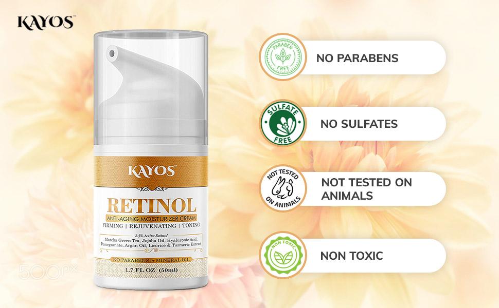 Parabens Free anti aging cream