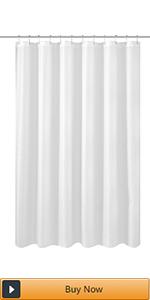 white nylon shower curtain liner