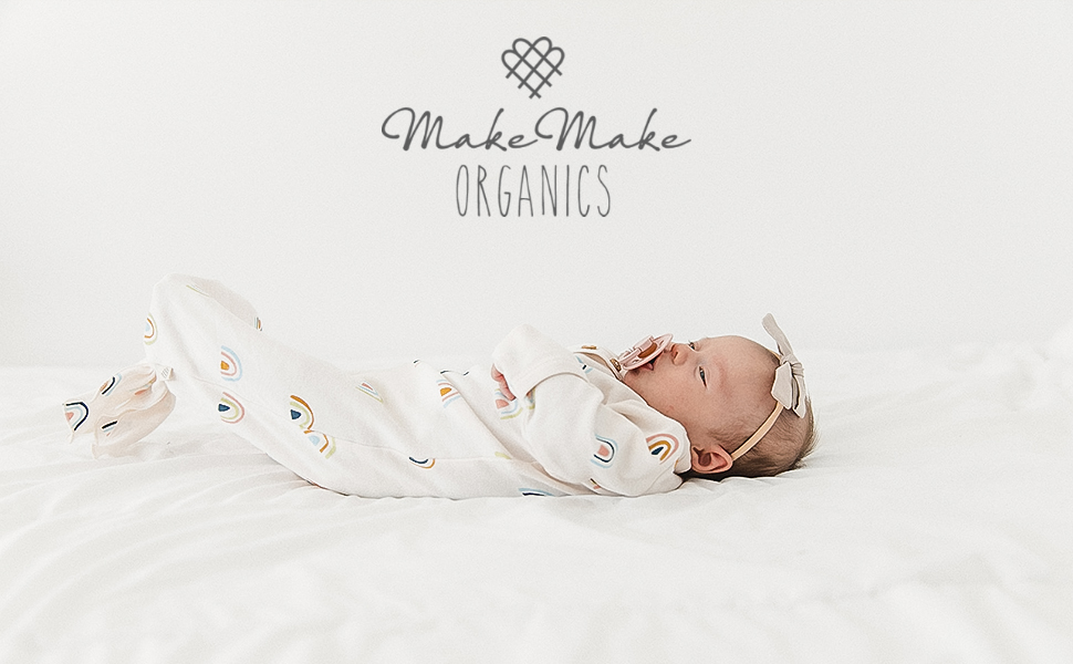 organic cotton baby clothing romper bodysuit onesie zippered button sleep gown sleeper play pants