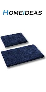 navy bath rug 2 piece