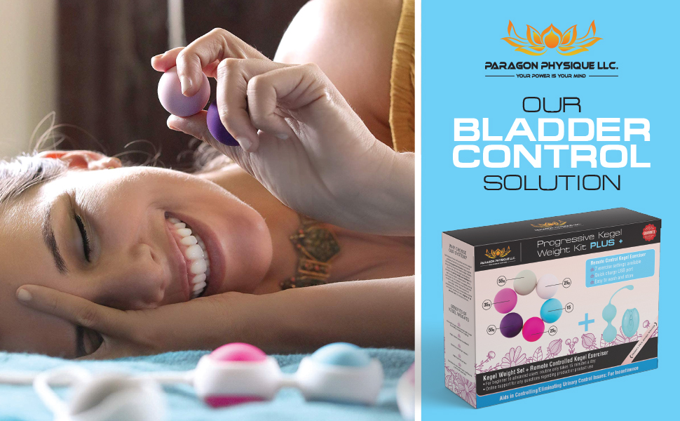 Paragon Physique's Kegel Weight Kit PLUS: The Only Bladder Control Solution.