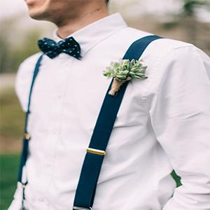 Y-Back suspender blue
