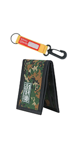 Rough Enough Camo Slim Minimalist Kids Wallet for Boys Mens Front Pocket Keychain Wallet Card Wallet
