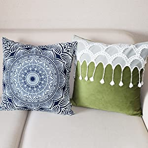 navy blue cushion covers