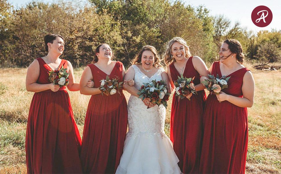 alicepub chiffon bridesmaid dress