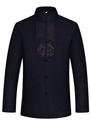 Tang Suit Men Hanfu Chinese Traditional Clothes Kung Fu Shirt Uniform Long Sleeved Coat Tops Pants