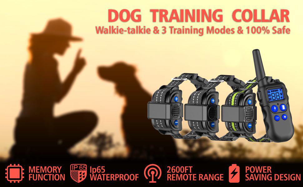 fcolor dog training co1llar