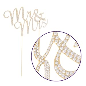 sparkle and shine mr and mrs always and forever gold cake topper