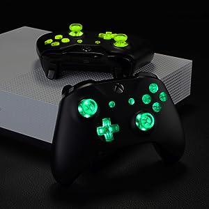 eXtremeRate Botones LED Multicolores para Mando Xbox One Botón de D-Pad Joysticks Vista Menú ABXY Acción Teclas (DTF) LED Kit para Controlador de Xbox One Standard Xbox One S X 7 Colores